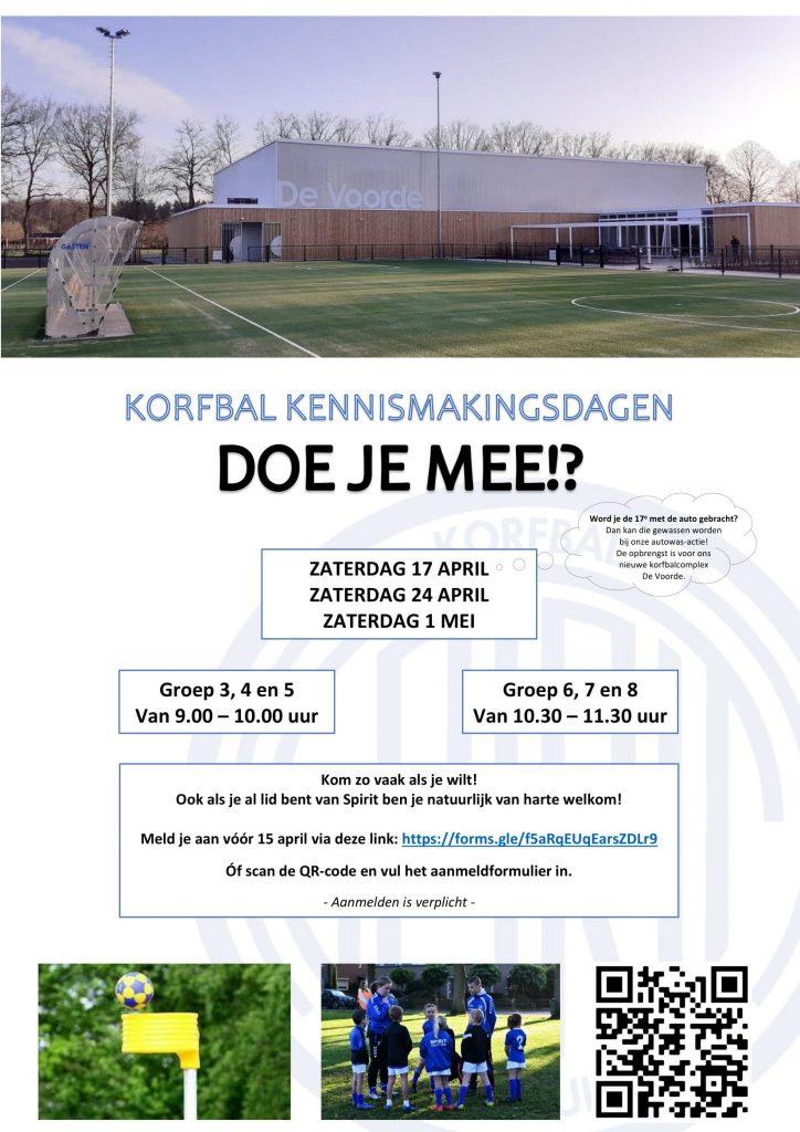 Korfbal kennismakingsdagen voor basisscholen